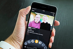 BBC IPlayer Radio streaming app showing Radio 2 on an iPhone 6 Plus smart phone