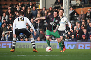 Bristol City striker, Lee Tomlin (9) with an attack and shot on goal during the Sky Bet Championship match between Fulham and Bristol City at Craven Cottage, London, England on 12 March 2016. Photo by Matthew Redman.