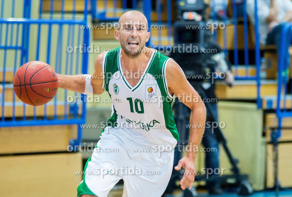 Nebojsa Joksimovic of Krka during basketball match between KK Krka Novo mesto and KK Union Olimpija Ljubljana at Superpokal 2014, on September 30, 2014 in Sencur Sports hall, Slovenia. Photo by Vid Ponikvar / Sportida.com
