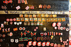 LIVERPOOL, ENGLAND - Wednesday, January 20, 2016: Liverpool pin badges on sale before the FA Cup 3rd Round Replay match between Liverpool and Exeter City at Anfield. (Pic by David Rawcliffe/Propaganda)
