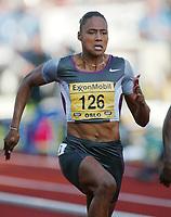 Track and Field, 28. june 2002, Golden League - Bislett Games, Oslo, Norway.  Marion Jones, 100 metres.