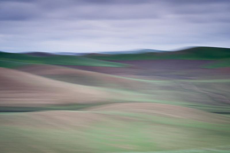 Impressionistic view of the Palouse region of eastern Washington near Colfax, WA