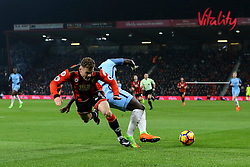 Bacary Sagna of Manchester City tackles Ryan Fraser of Bournemouth - Mandatory by-line: Jason Brown/JMP - 13/02/2017 - FOOTBALL - Vitality Stadium - Bournemouth, England - Bournemouth v Manchester City - Premier League