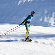 Winter Olympics, Vancouver, 2010.Esther Bottomley of Australia practices  at Whistler Olympic Park Cross Country Skiing Stadium and course in preparation for the event at the Winter Olympics. 9th February 2010. Photo Tim Clayton