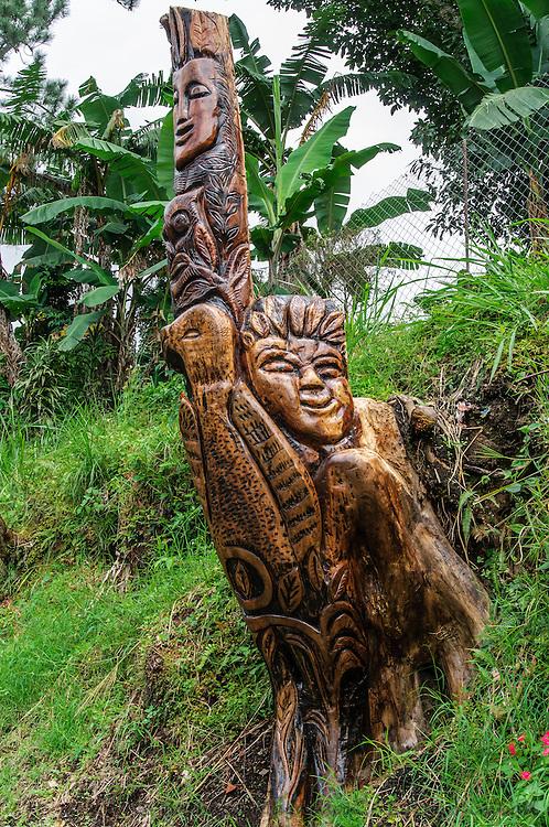 Roadside wood sculpture; road from Boquete, Panama