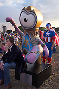 Olympic mascot Wenlock in Hyde park, Central London