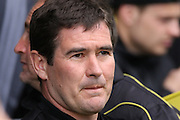 Burton Albion manager Nigel Clough during the Sky Bet League 1 match between Burton Albion and Gillingham at the Pirelli Stadium, Burton upon Trent, England on 30 April 2016. Photo by Aaron  Lupton.