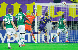 Luka Zahovic of Maribor scores first goal for Maribor against  Rui Patrício of Sporting during football match between NK Maribor and Sporting Lisbon (POR) in Group G of Group Stage of UEFA Champions League 2014/15, on September 17, 2014 in Stadium Ljudski vrt, Maribor, Slovenia. Photo by Vid Ponikvar  / Sportida.com