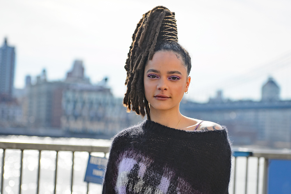 Sasha Lane at Coach FW2018