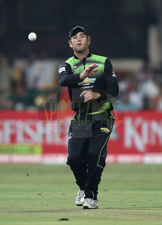 Colin Ingram of the Warriors during match 1 of the NOKIA Champions League T20 ( CLT20 )between the Royal Challengers Bangalore and the Warriors held at the  M.Chinnaswamy Stadium in Bangalore , Karnataka, India on the 23rd September 2011..Photo by Shaun Roy/BCCI/SPORTZPICS