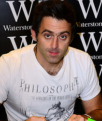 Ronnie O'Sullivan book signing.<br /> Ronnie O'Sullivan signs copies of Running: The Autobiography, the second instalment, Waterstones, London, United Kingdom. Friday, 11th October 2013. Picture by Nils Jorgensen / i-Images