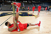 ANN ARBOR, MI - FEBRUARY 5: Amir Williams #23 of the Ohio State Buckeyes gets ready before the game against the Michigan Wolverines at Crisler Center in Ann Arbor, Michigan on February 5. Michigan won 76-74. (Photo by Joe Robbins)