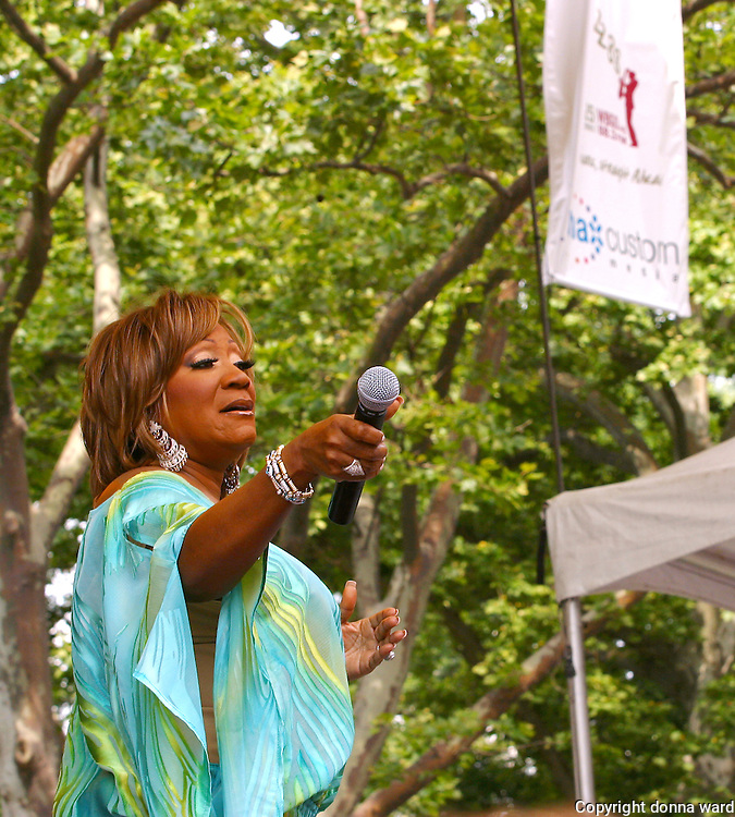 Club Shelter presents singer Patti LaBelle at Central Park SummerStage on June 26, 2004.