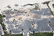 The wreckage of a commercial center remains nearly two years after Hurricane Katrina.