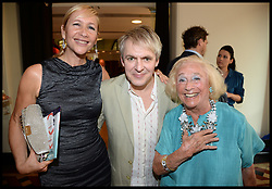 Duran Duran band Member Nick Rhodes with Tania Bryer and her Mother Joy attend the National Youth Orchestra of The United States of America Reception at the <br /> The Royal Albert Hall hosted be Ronald O.Perelman, London, United Kingdom,<br /> Sunday, 21st July 2013<br /> Picture by Andrew Parsons / i-Images