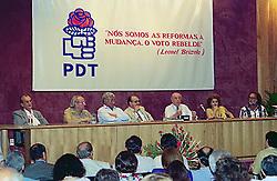 Dilma Rousseff em reunião no diretório do PDT no ano 2000, em Porto Alegre. FOTO: Sérgio Néglia/Preview.com