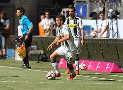 27.07.2014, Imtech Arena, Hamburg, GER, Telekom Cup, Hamburger SV vs Borussia Dortmund, im Bild Julian Korb (Abwehr / Moenchengladbach / n27), // during the Telekom Cup Match between Hamburger SV and Borussia Dortmund at the Imtech Arena in Hamburg, Germany on 2014/07/27. EXPA Pictures © 2014, PhotoCredit: EXPA/ Eibner-Pressefoto/ dap<br /> <br /> *****ATTENTION - OUT of GER*****