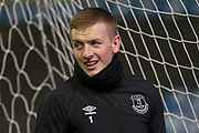 Jordan Pickford warm up during the The FA Cup fourth round match between Millwall and Everton at The Den, London, England on 26 January 2019.