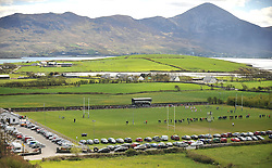 A Carrowholly perspective... the view overlooking Westport RFC during the Connacht v Ulster Junior Interprovincial on saturday last with Croagh Patrick as the dramatic backdrop.<br /> Pic Conor McKeown