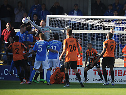 Barnets Keeper Graham Stack Denies Eastleigh attack, Barnet v Eastleigh, Vanarama Conference, Saturday 4th October 2014