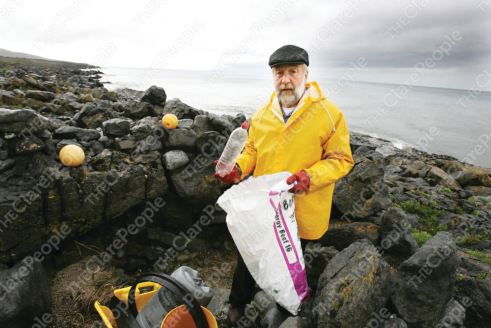 William Verhulst cleaning up the coast at Fanore.<br />