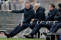 (L-R) coach *John van den Brom* of AZ Alkmaar, assistant trainer *Arne Slot* of AZ Alkmaar