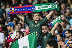 August 7, 2017 - Barcelona, Catalonia, Spain - Fans of Chapecoense are pictured prior to the 52nd Joan Gamper Trophy at the Camp Nou stadium in Barcelona (Credit Image: © Matthias Oesterle via ZUMA Wire)