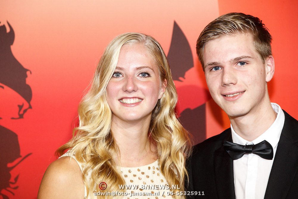 NLD/Amsterdam/20151215 - NOC / NSF Sportgala 2015, Fleur Jong en haar broer Rcik Jong