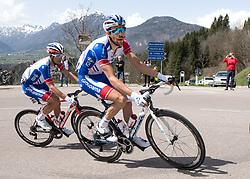 16.04.2018, Folgaria, ITA, Tour of the Alps, Italien 1. Etappe Arco nach Folgaria im Bild Thibaut Pinot (FRA, Groupama - FDJ) // during the Tour of the Alps 1st stage from Arco to Folgaria, Italy on 2018/04/16. EXPA Pictures © 2018, PhotoCredit: EXPA/ Reinhard Eisenbauer