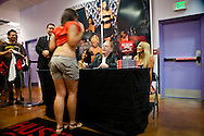Larry Flynt at a book signing event at the Hustler Club in New Orleans