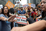 Sept. 21, 2014 - New York, NY, USA -<br /> <br /> Leonardo DiCaprio marching in The People's Climate March in New York City on September 21, 2014<br /> ©Exclusivepix