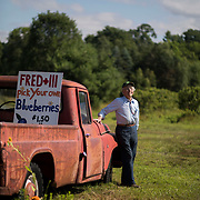 June 25, 2018. Fred Detrick at the Fred + lll  blueberry farm in Pemberton, New Jersey. John Taggart for The New York Times