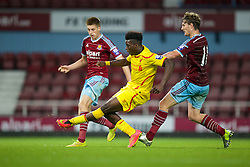 UPTON PARK, ENGLAND - Friday, September 12, 2014: Liverpool's Shay Ojo scores the fourth goal against West Ham United during the Under 21 FA Premier League match at Upton Park. (Pic by David Rawcliffe/Propaganda)