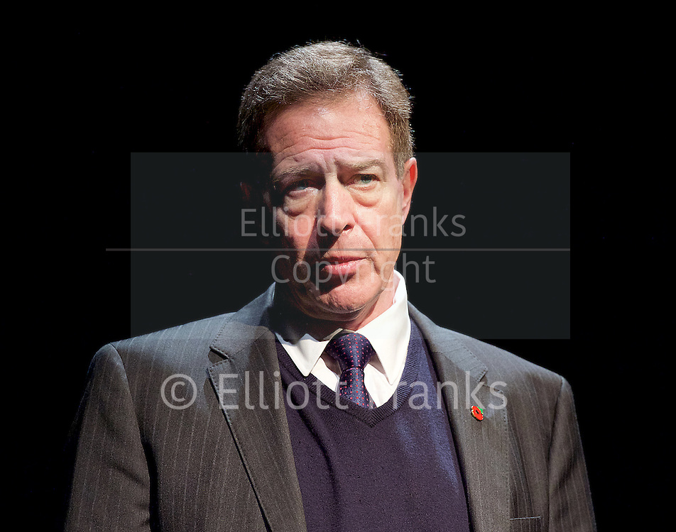 Another World <br /> Losing Our Children To Islamic State <br /> directed by Nicholas Kent <br /> at Temporary Theatre, National Theatre, Southbank, London, Great Britain<br /> Press photocall <br /> 14th April 2016 <br /> <br /> <br /> Jack Ellis as General Allen <br /> <br /> <br /> <br /> <br /> Photograph by Elliott Franks <br /> Image licensed to Elliott Franks Photography Services