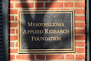 Exterior photo of the Mesothelioma Applied Research Foundation in Alexandria, Va on January 22, 2015. Photo by Kris Connor for New York Daily News