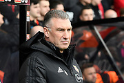 Watford manager Nigel Pearson during the Premier League match between Bournemouth and Watford at the Vitality Stadium, Bournemouth, England on 12 January 2020.