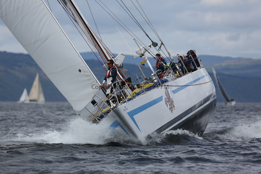 The Silvers Marine Scottish Series 2014, organised by the  Clyde Cruising Club,  celebrates it's 40th anniversary.<br /> Day 3, K3797, Drum, Sir Arnold Clark, CCC, Holland 77<br /> Racing on Loch Fyne from 23rd-26th May 2014<br /> <br /> Credit : Marc Turner / PFM