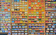 Sardine cans in Museum<br /> Seal Cove on Grand Manan Island<br /> New Brunswick<br /> Canada