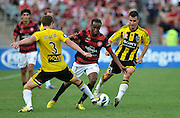 10.03.2013 Sydney, Australia. Wanderers Dutch midfielder Youssouf Hersi in action during the Hyundai A League game between Western Sydney Wanderers and Wellington Phoenix FC from the Parramatta Stadium. The Wanderers won 2-1.
