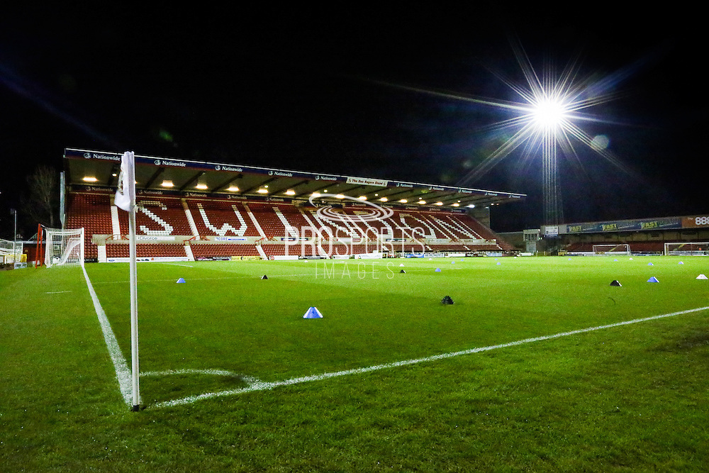 The County ground during the Sky Bet League 1 match between Swindon Town and Walsall at the County Ground, Swindon, England on 24 November 2015. Photo by Shane Healey.