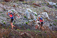 Oak Valley ( Elgin / Grabouw ), SOUTH AFRICA - Overall masters winners, Doug brown and Barti Boucher during the final stage stage seven , 7 , of the Absa Cape Epic Mountain Bike Stage Race between Oak Valley ( Elgin / Grabouw ) and Lourensford on the 28 March 2009 in the Western Cape, South Africa..Photo by Karin Schermbrucker  /SPORTZPICS