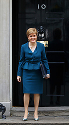 © Licensed to London News Pictures. 24/10/2016. London, UK. First Minister of Scotland NICOLA STURGEON attends a Joint Ministerial Committee to discuss the UK regional response to Brexit in Downing Street on Monday, 24 October 2016. Photo credit: Tolga Akmen/LNP