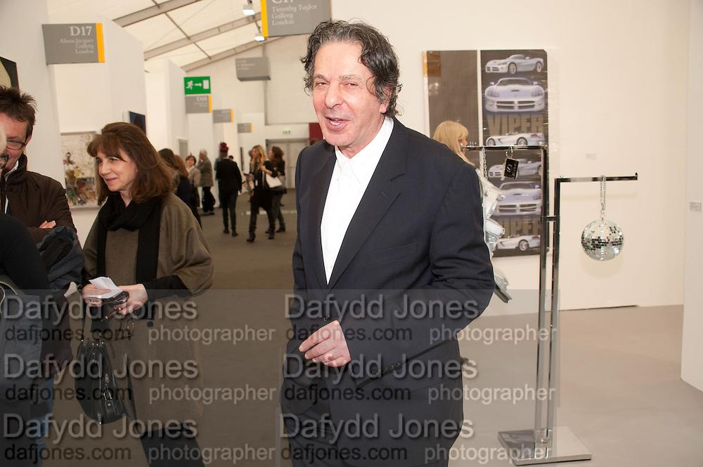 CHARLES SAATCHI, opening of the 2010 Frieze art fair. Regent's Park. London. 13 October 2010. -DO NOT ARCHIVE-© Copyright Photograph by Dafydd Jones. 248 Clapham Rd. London SW9 0PZ. Tel 0207 820 0771. www.dafjones.com.