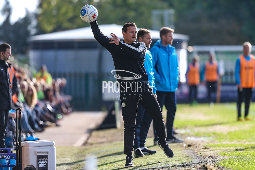 Forest Green Rovers manager, Mark Cooper during the Vanarama National League match between Forest Green Rovers and Guiseley  at the New Lawn, Forest Green, United Kingdom on 22 October 2016. Photo by Shane Healey.