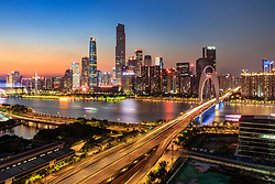 May 24, 2018 - Guangzh, Guangzh, China - Guangzhou, CHINA-24th May 2018: Night scenery of Guangzhou, south China's Guangdong Province. (Credit Image: © SIPA Asia via ZUMA Wire)