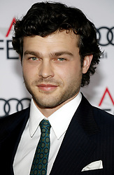 Alden Ehrenreich at the AFI FEST 2016 Opening Night Premiere of 'Rules Don't Apply' held at the TCL Chinese Theatre in Hollywood, USA on November 10, 2016.