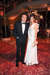 BRYAN FERRY and AMANDA SHEPPARD at a dinner hosted by HRH Prince Robert of Luxembourg in celebration of the 75th anniversary of the acquisition of Chateau Haut-Brion by his great-grandfather Clarence Dillon held at Lancaster House, London on 10th June 2010.