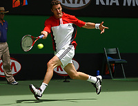 MELBOURNE, AUSTRALIA - JANUARY 23:  Marat Safin of USA plays Olivier Patience of France during day five of the Australian Open January 23, 2004 in Melbourne, Australia. (Photo by Lars Mueller/Sportsbeat) *** Local Caption *** -