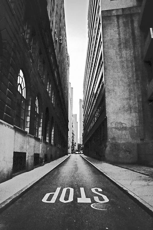 Narrow streets of ny. NYC 2010