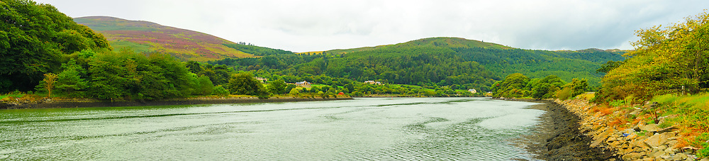 View down the Newry River towards Fathom Mountain and Fathom Forest from Narrow Water Castle